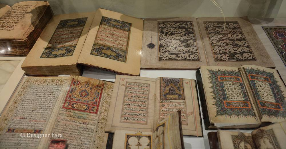 Collectiable Qurans at Etihad Antique Gallery