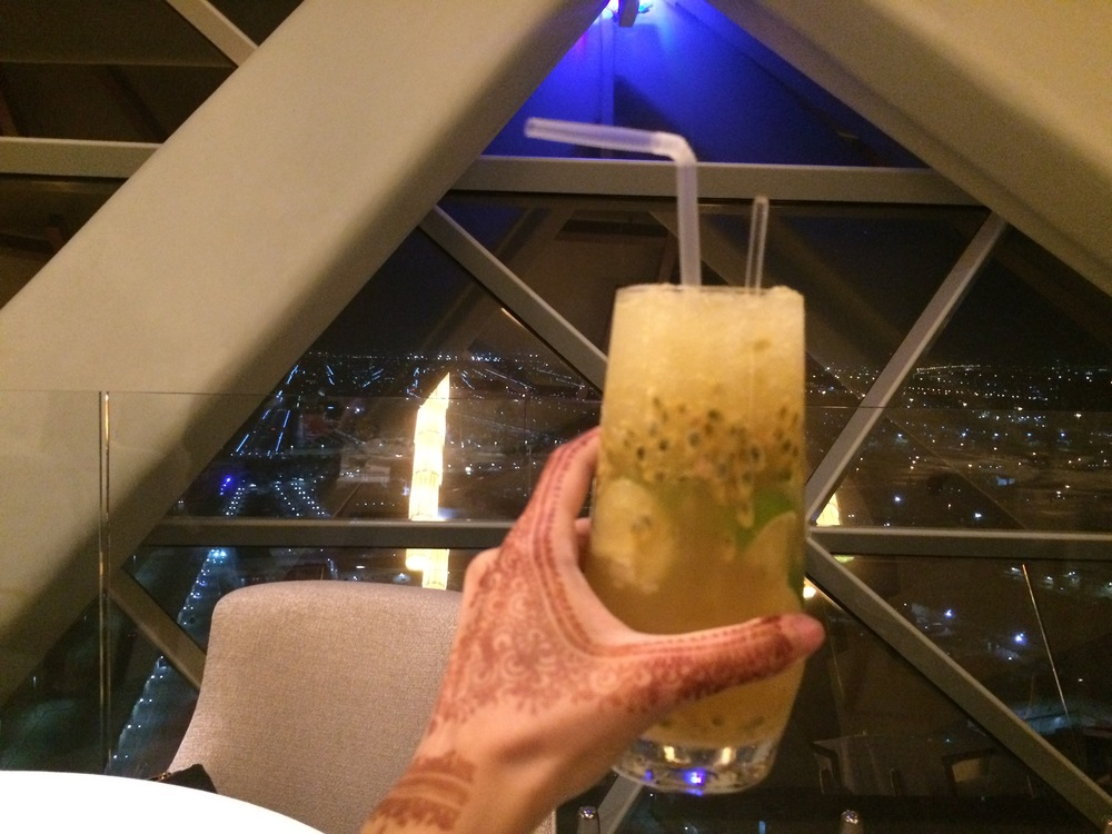 Refreshing Juice at the 18 Degree Restaurant in Abu Dhabi