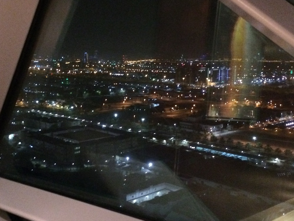 View of Abu Dhabi from the 18 Degrees restaurant