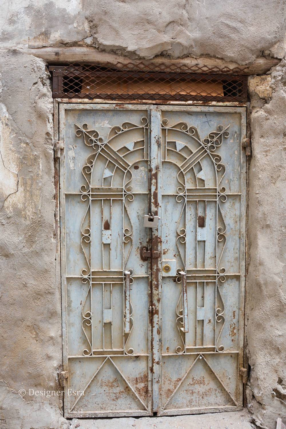 Rustic Metal Door in Saudi