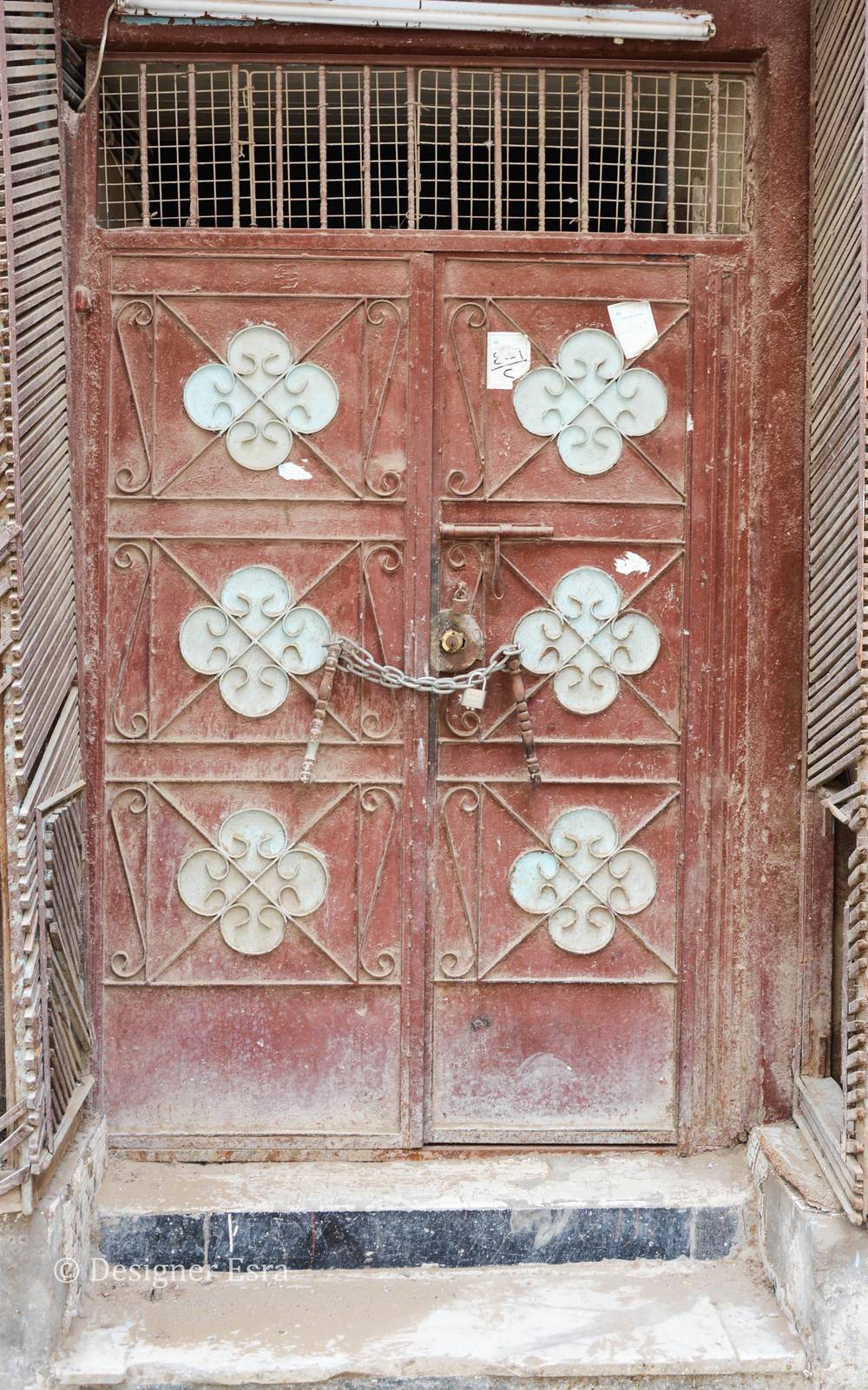 Red Metal Door in Jeddah