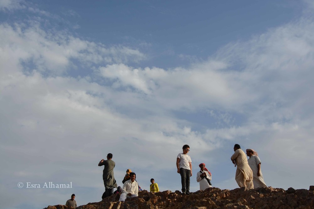 Children on top of the mountain in Madina