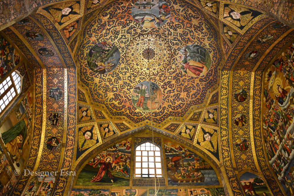 Beautiful Armenian Church in Esfahan, Iran