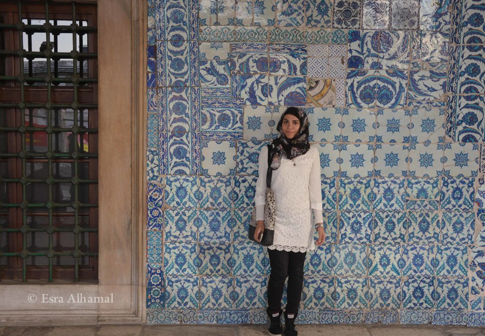 Blue Iznik Tiles from the Rustum Pasa Mosque