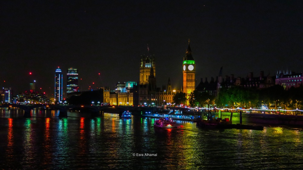 Westminster at night, London