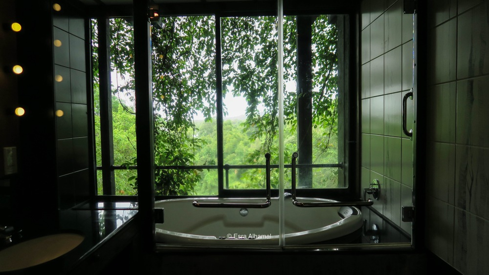 Jacuzzi with a gorgeous view at Heritance Kandalama