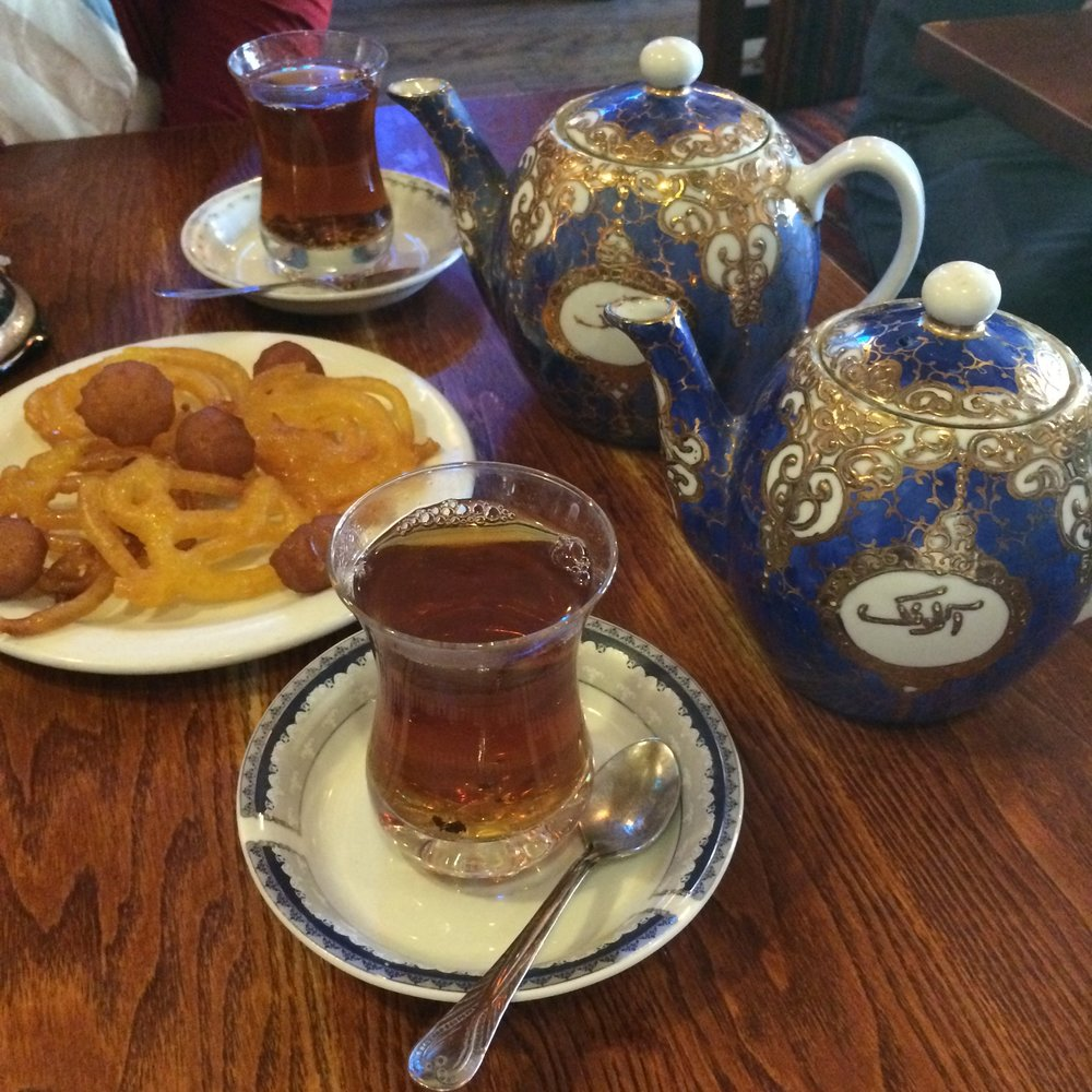Persian tea and desserts in London