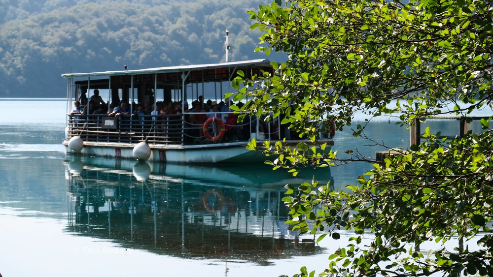 The boat trip in Plitvice Lakes National Park
