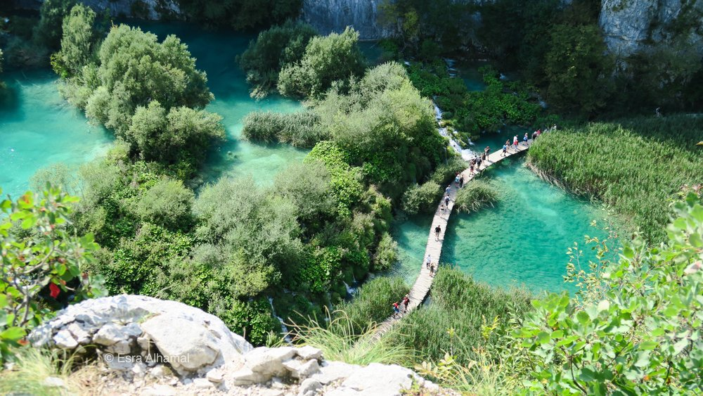 Plitvice Lakes National Park from the top