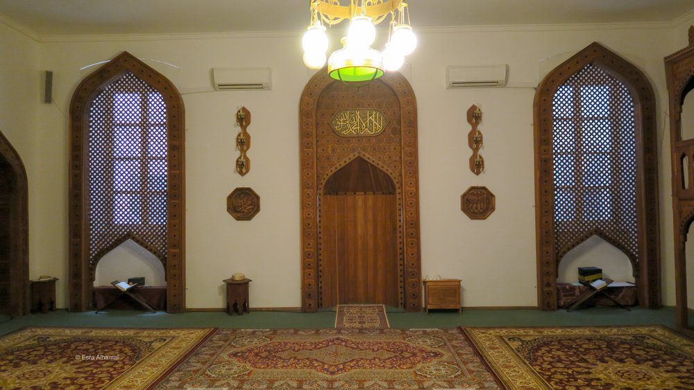 The inside of the mosque in Dubrovnik