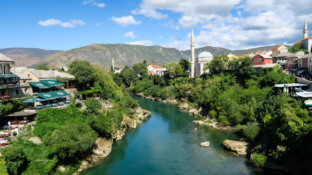 The view of Mostar