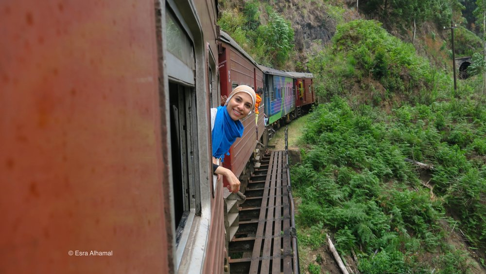 Taking the train in Sri Lanka