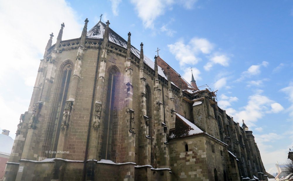 The Black Church in Brasov old town