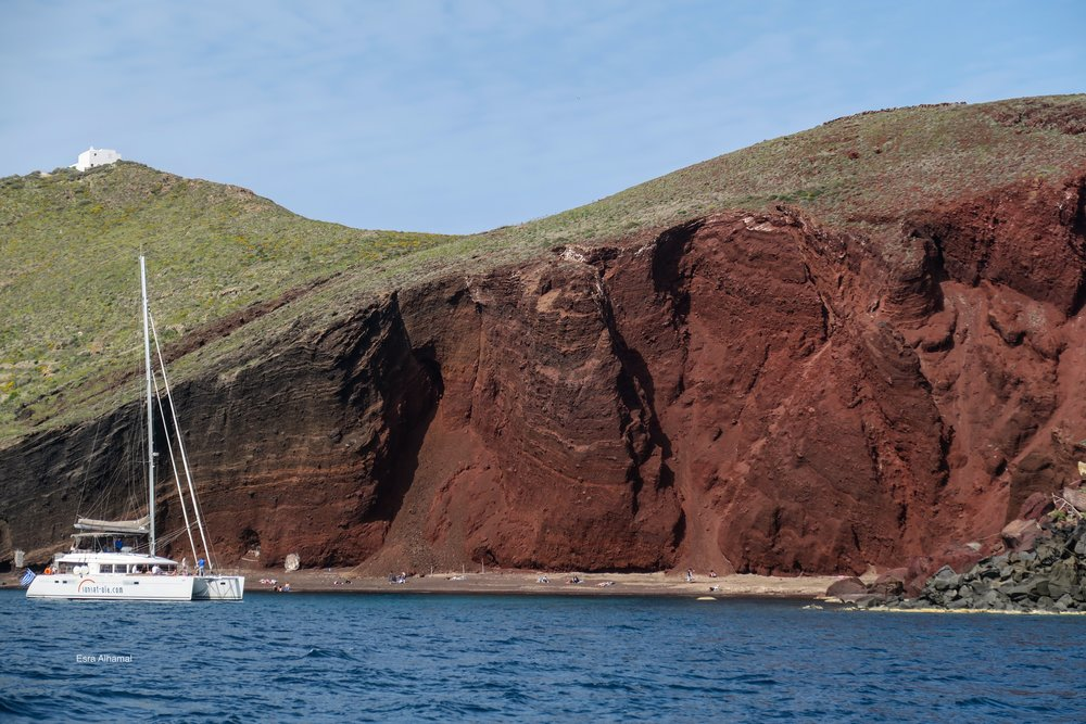 The red beach in Santorini