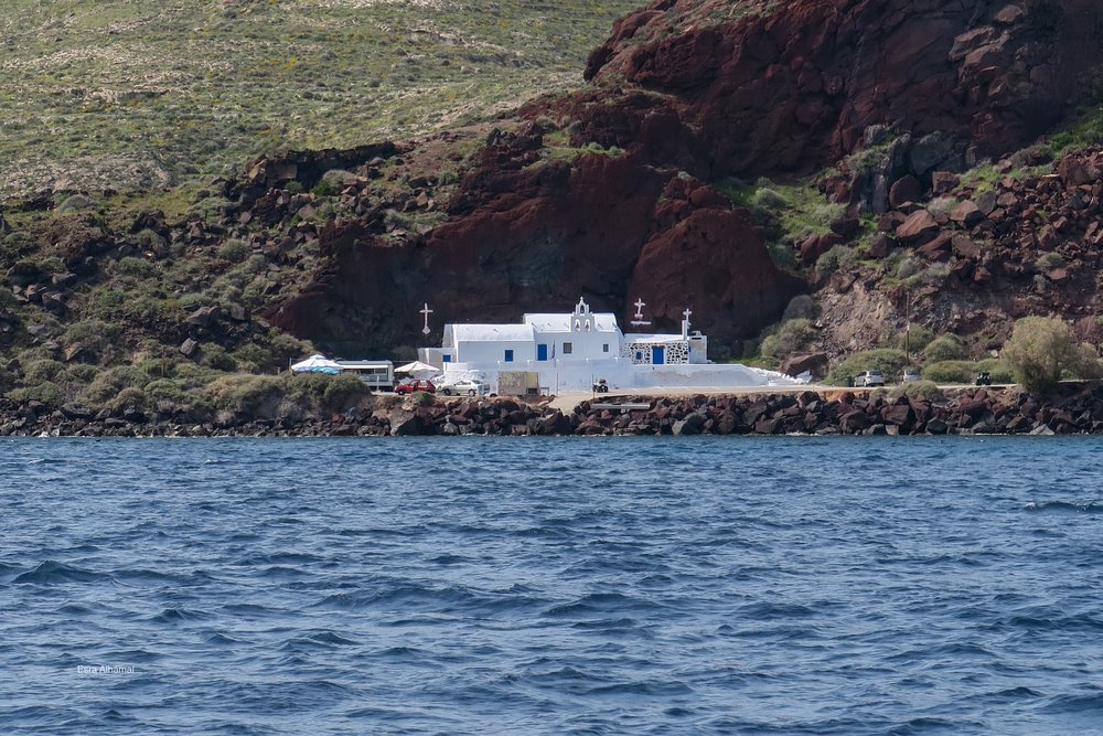 Church painted in white in Santorini