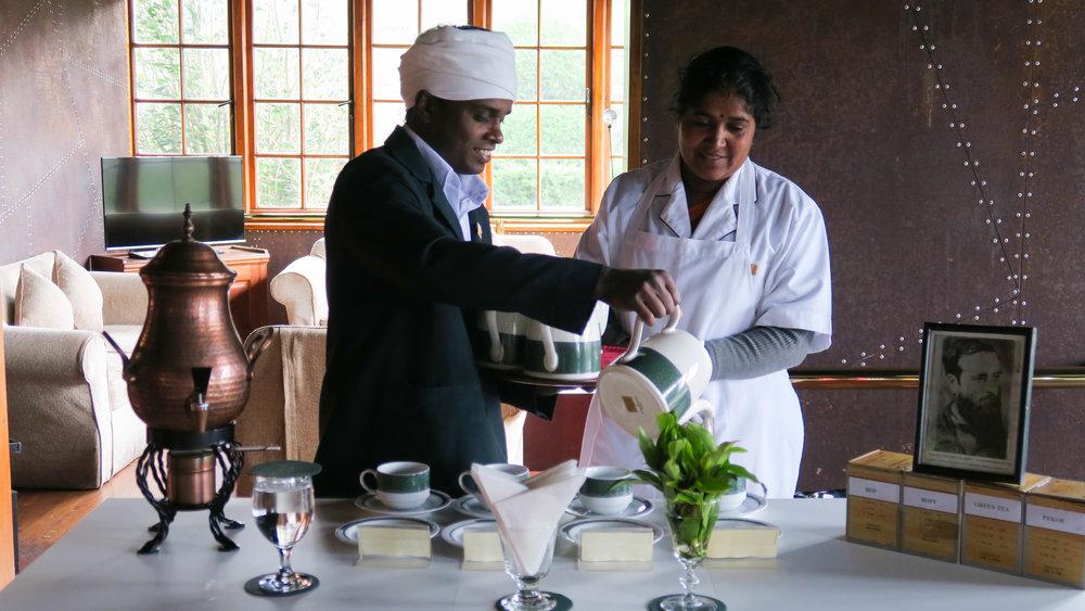 تجربة تذوق الشاي في فندق مصتع الشاي