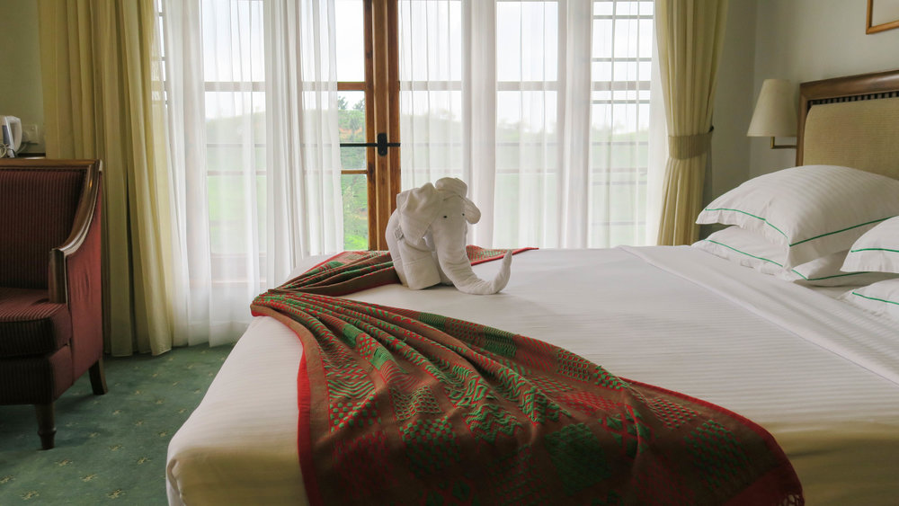 غرفة النوم في فندق مصنع الشاي في سريلانكا