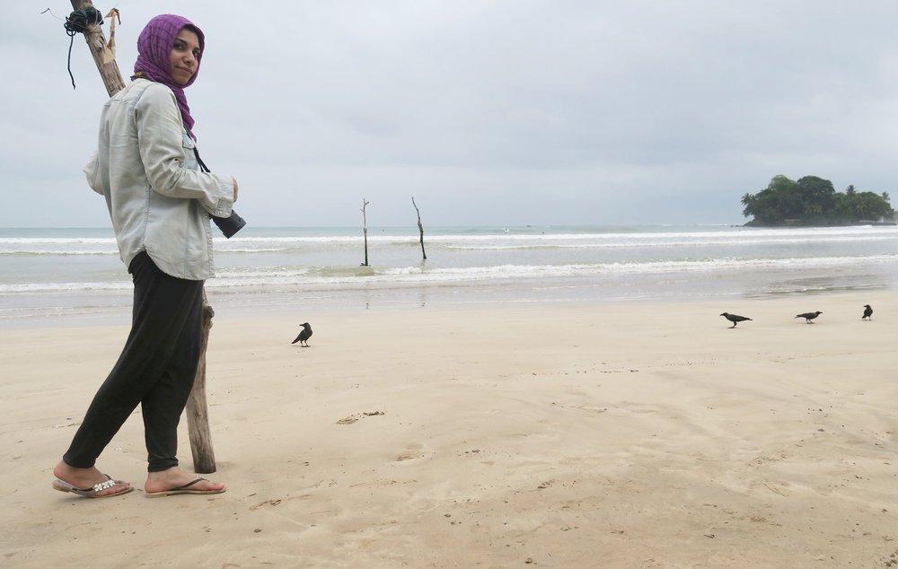 في قرية وليقاما على البحر في سريلانكا