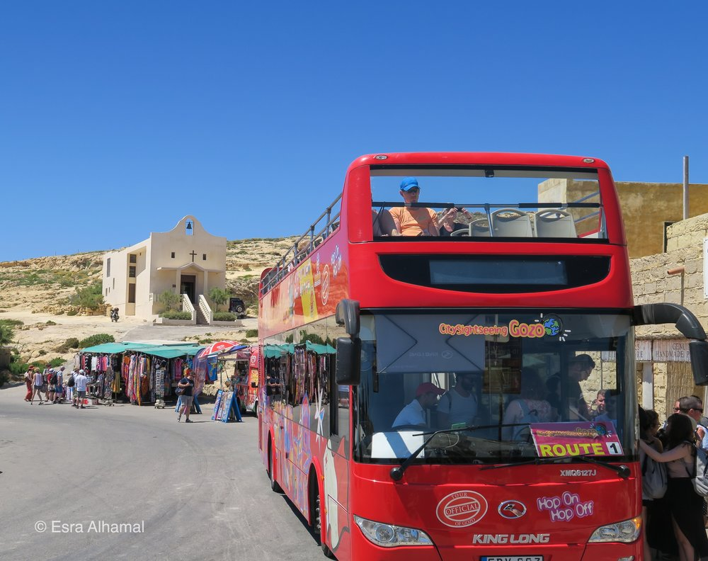 The Hop on an Hop off Bus in Gozo
