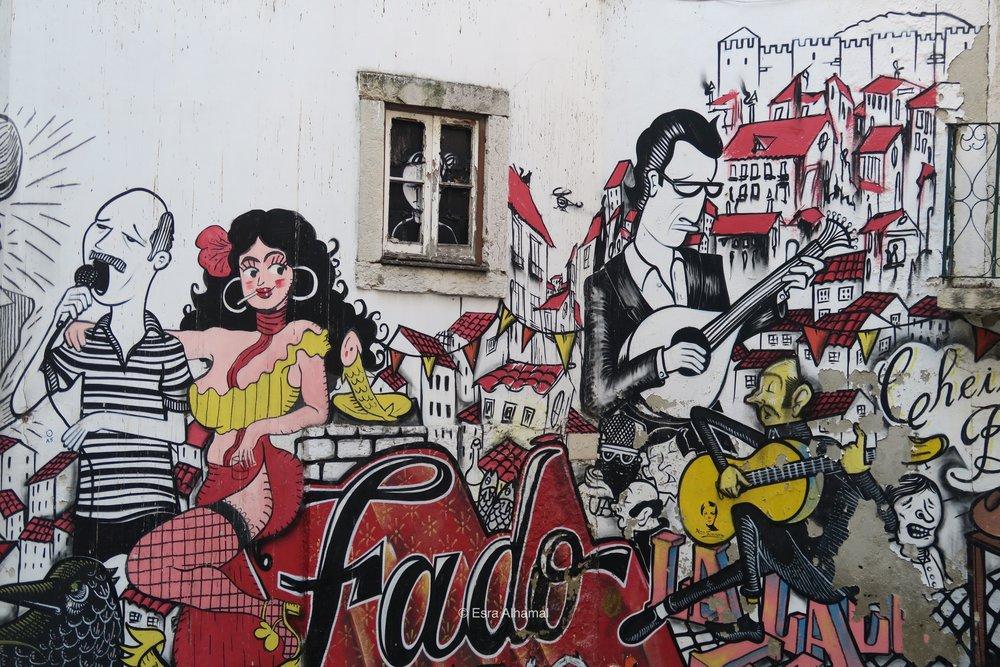 Fado Street Art in Lisbon