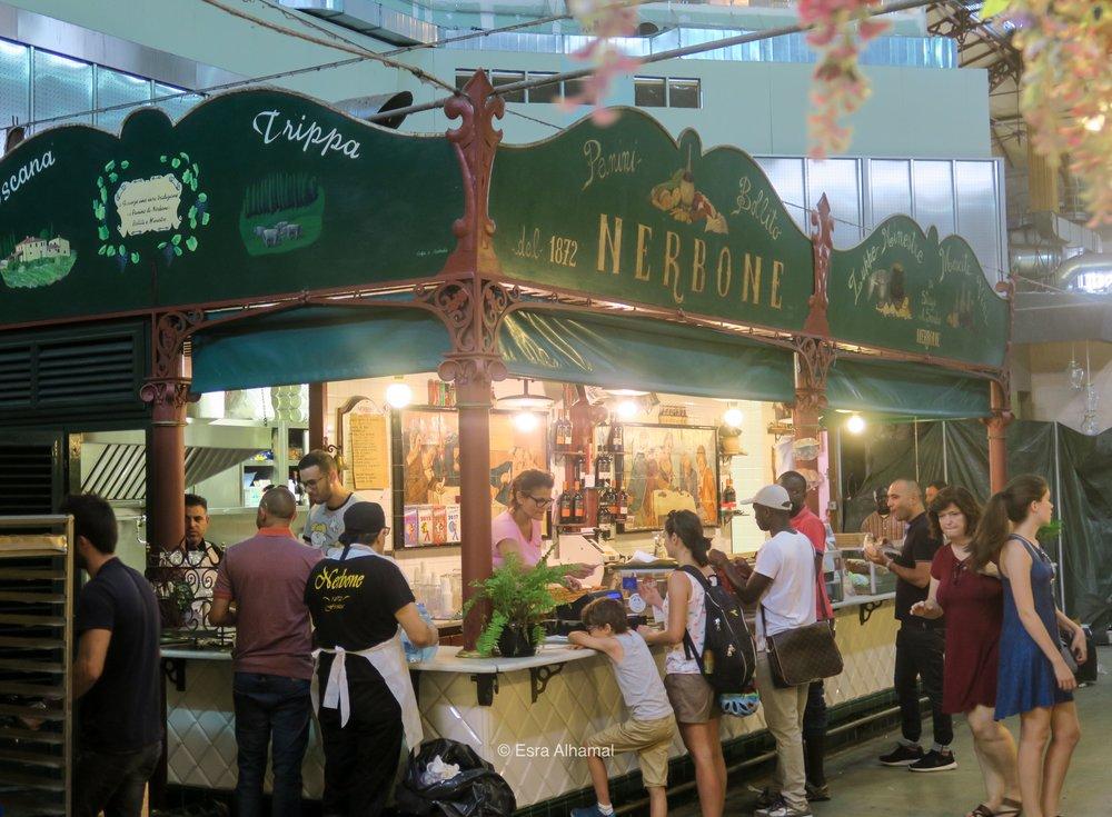 Pasta in Mercato di San Lorenzo in Florence