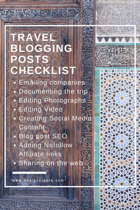 Travel Blogging Checklist