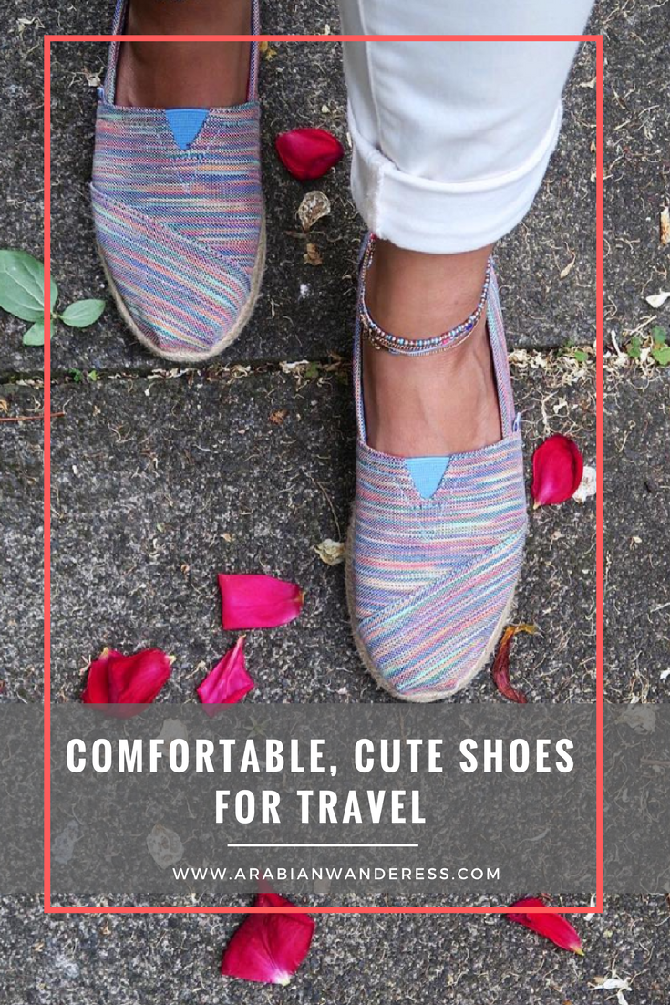 Comfortable, Cute Shoes for travel and walking during travels
