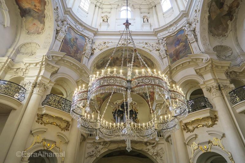 Inside St Nicholas Church in Prague