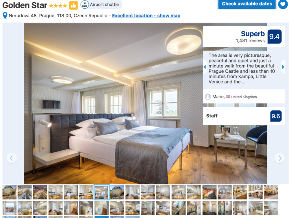 Where to stay in Prague Golden Star