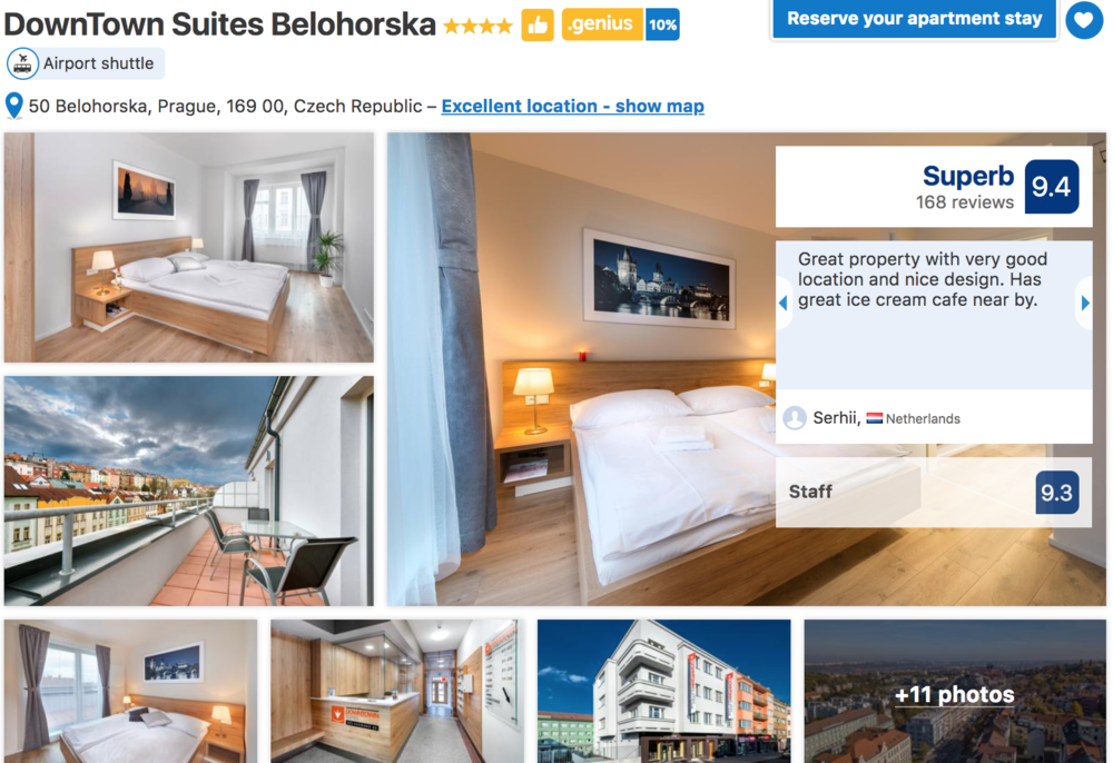 DownTown Suites Belohorska in Prague