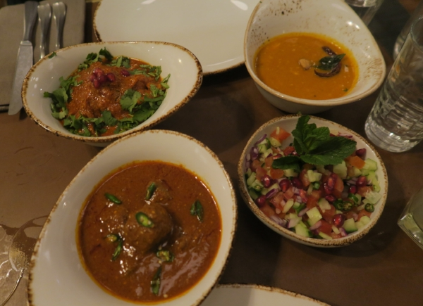Methi Chicken + Venison Kofta + Kachumbar Salad London