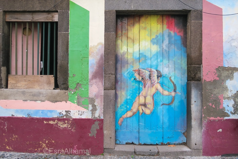 Street art in old town Funchal, Madeira
