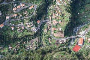 وادي الراهبات من الأعلى في جازيرة ماديرا في البرتغال