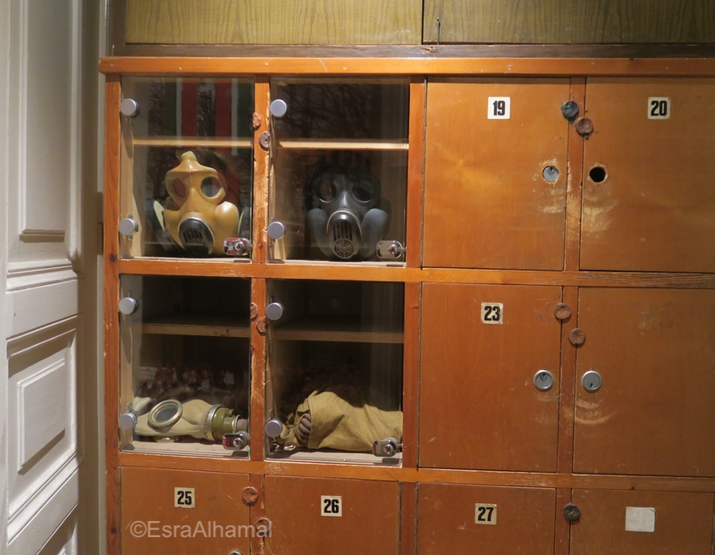 Gas Masks in Museum of Genocide Victims