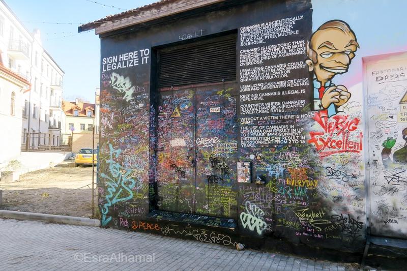Užupis street art