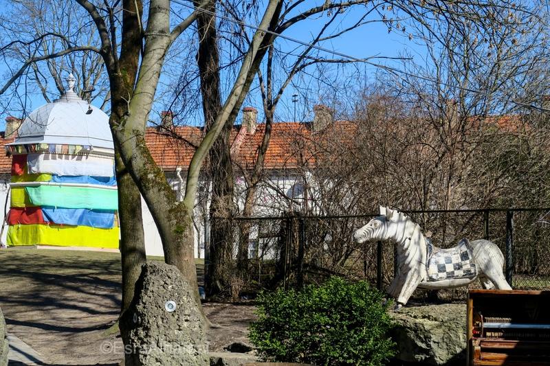 Colorful Užupis republic in Vilnius