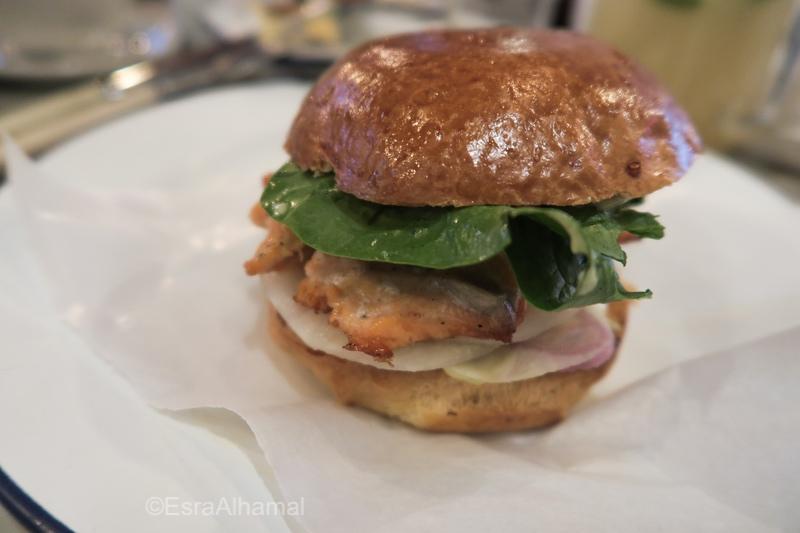 Salmon Burger in Vilnius