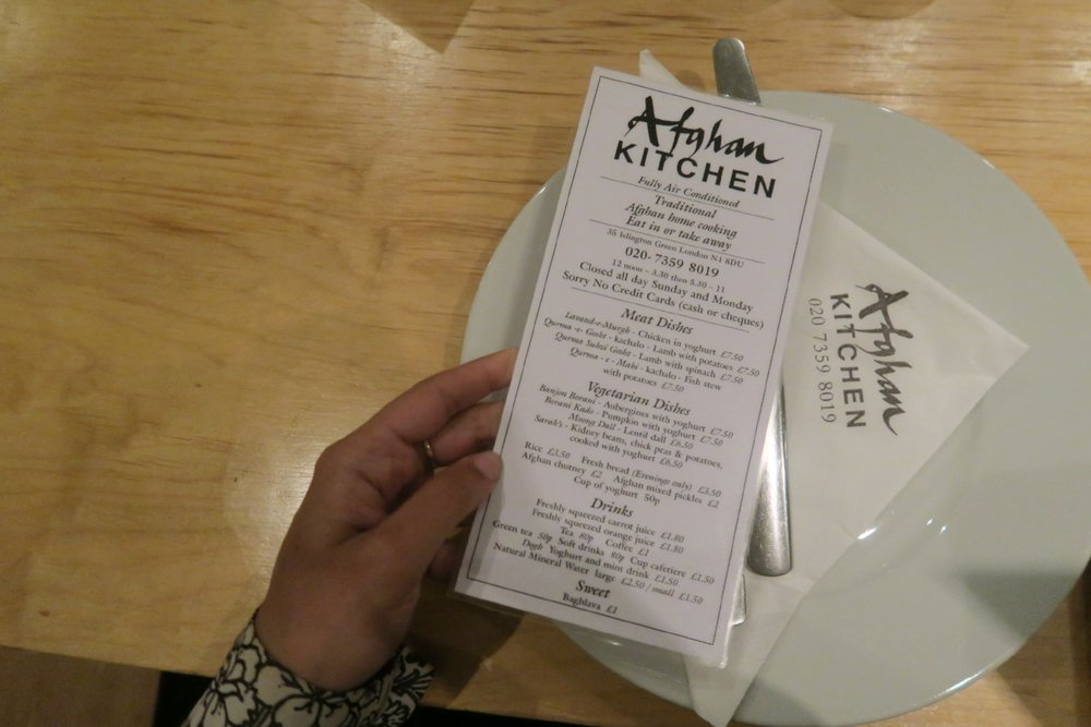 Afghan Kitchen in London