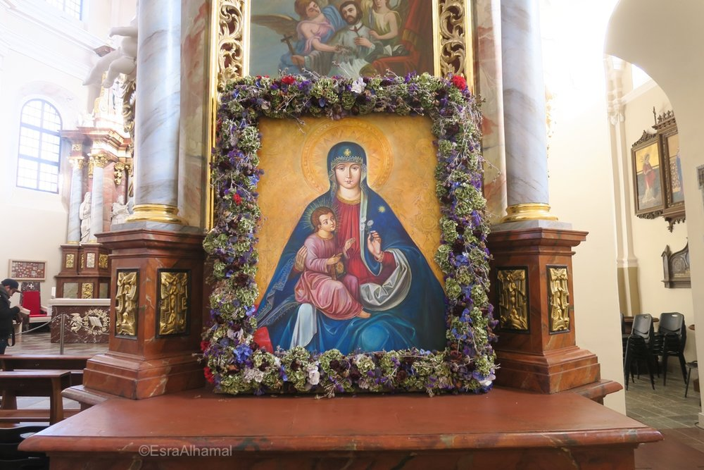 Christin Art in Orthodox Cathedral in Trakai, Lithuania