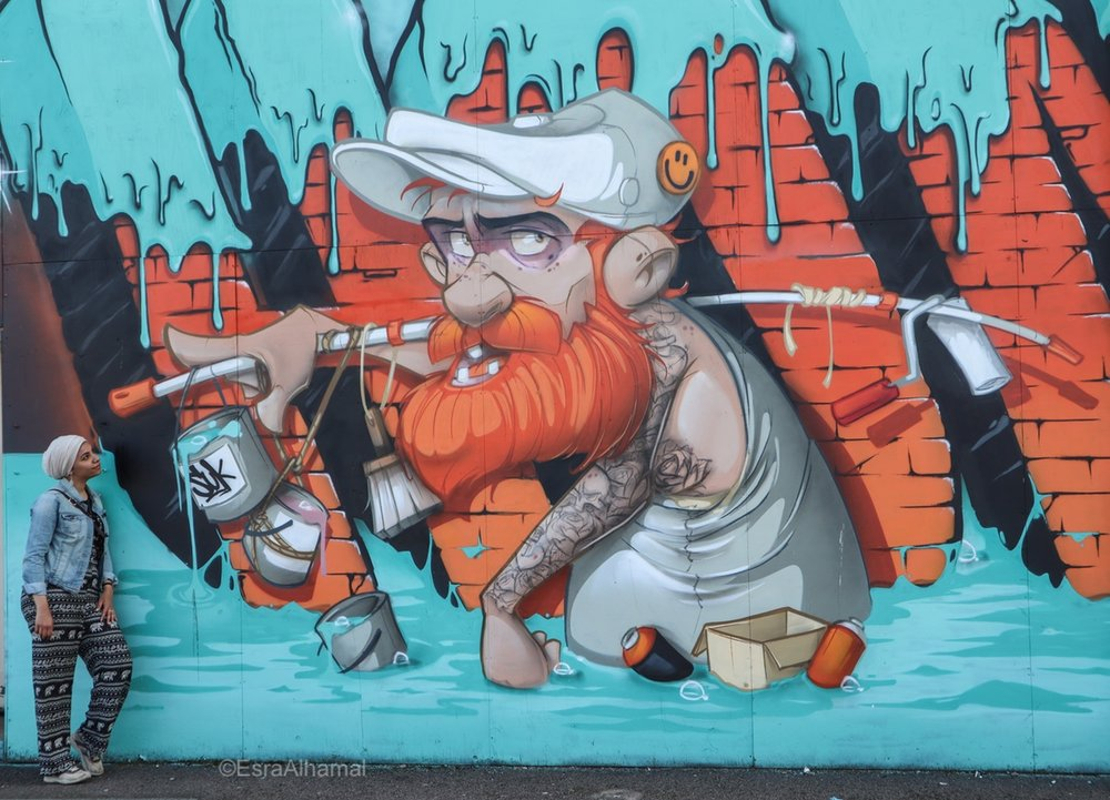 Piece by hombre and boogie #homboog | Graffiti street art in Leicester