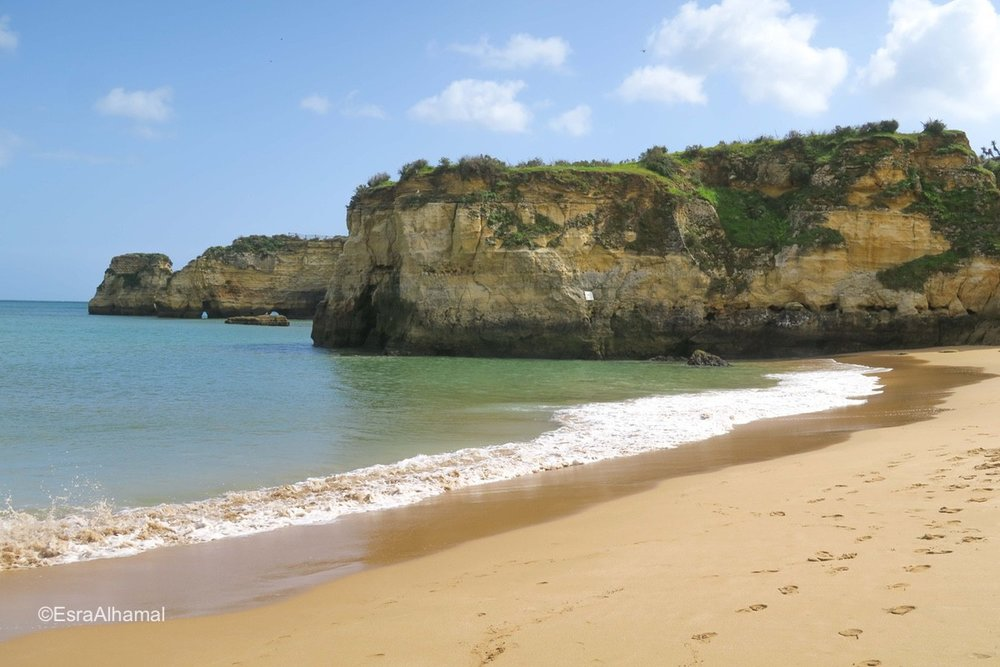 The beach in Lagos, Portugal