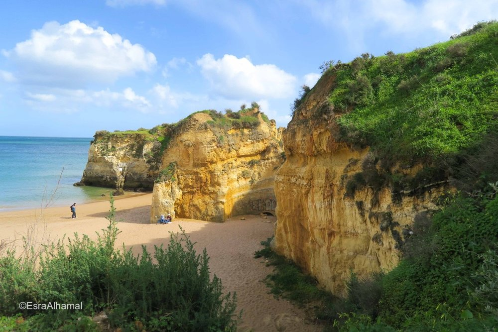 Cliffs in Lagos, Portugal