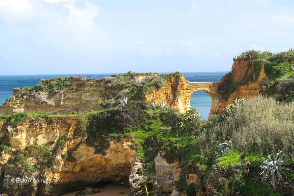 Beach and landscape view from Lagos, Portugal