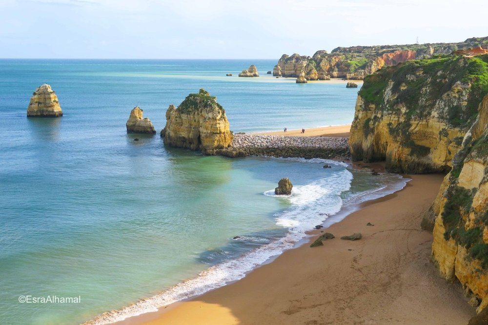Cliffs and rock formations in Algarve