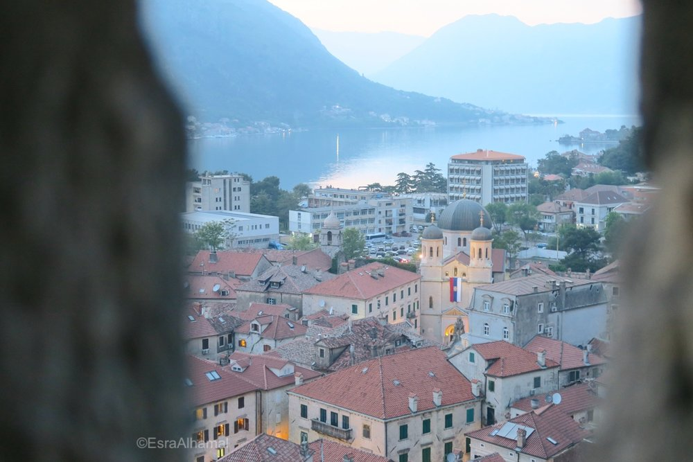 View from Kotor Fortress, Montenegro