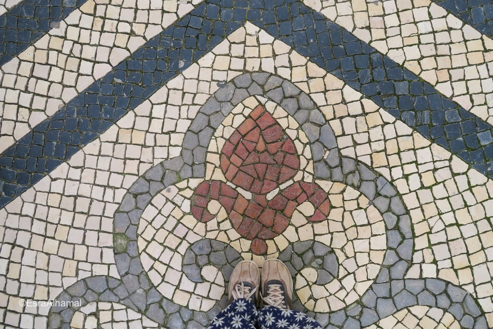 Stone floor in Faro, Algarve