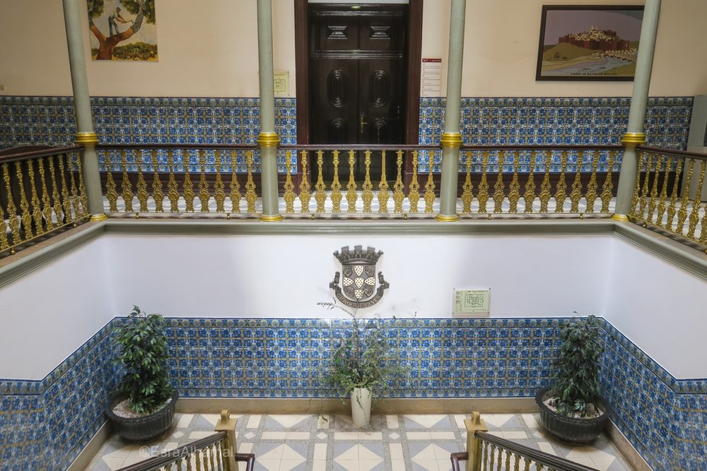 Tiles inside Silves Town Hall, Algarve, Portugal