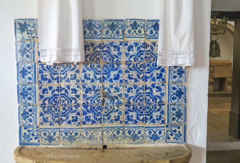 Blue Tiles from Portugal in a church in Silves
