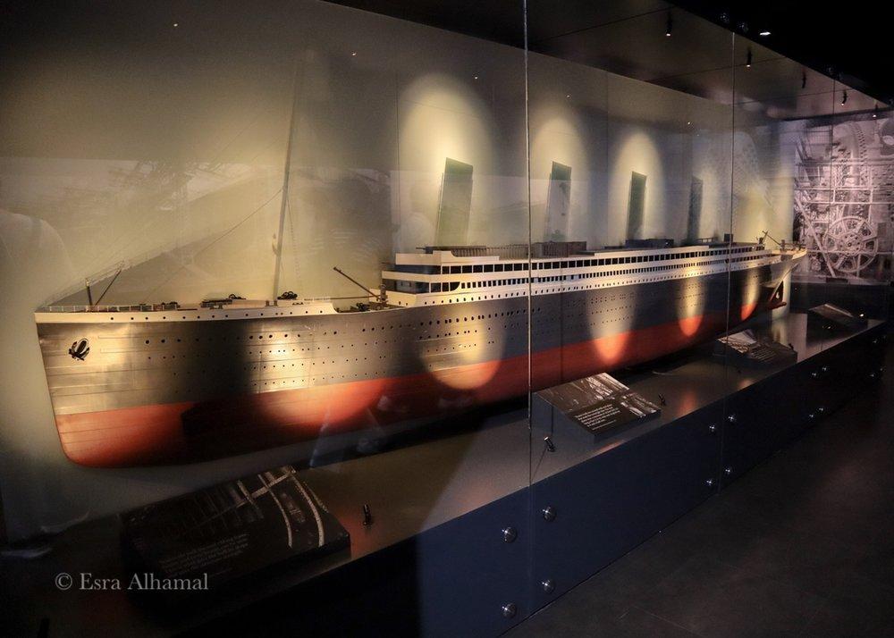 Titanic Model in the Museum in Belfast