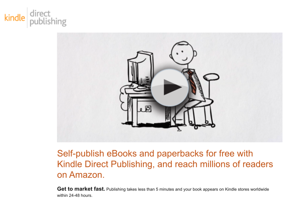 Self publishing on Amazon using KDP
